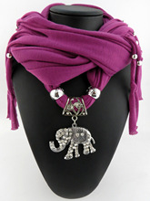 New tassel polyester jewelry scarf direct mammoth pendant scarf cloth tassel scarf spot geometry tassel edge scarf