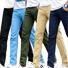 Wiosna i lato 2019 męskie spodnie na co dzień spodnie cargo może być dopasowane do na co dzień męskie proste spodnie tanie tanio Cargo pants COTTON Midweight 1703B-8006 Pełnej długości Mężczyźni REGULAR Suknem NONE Zipper fly Mieszkanie solid color