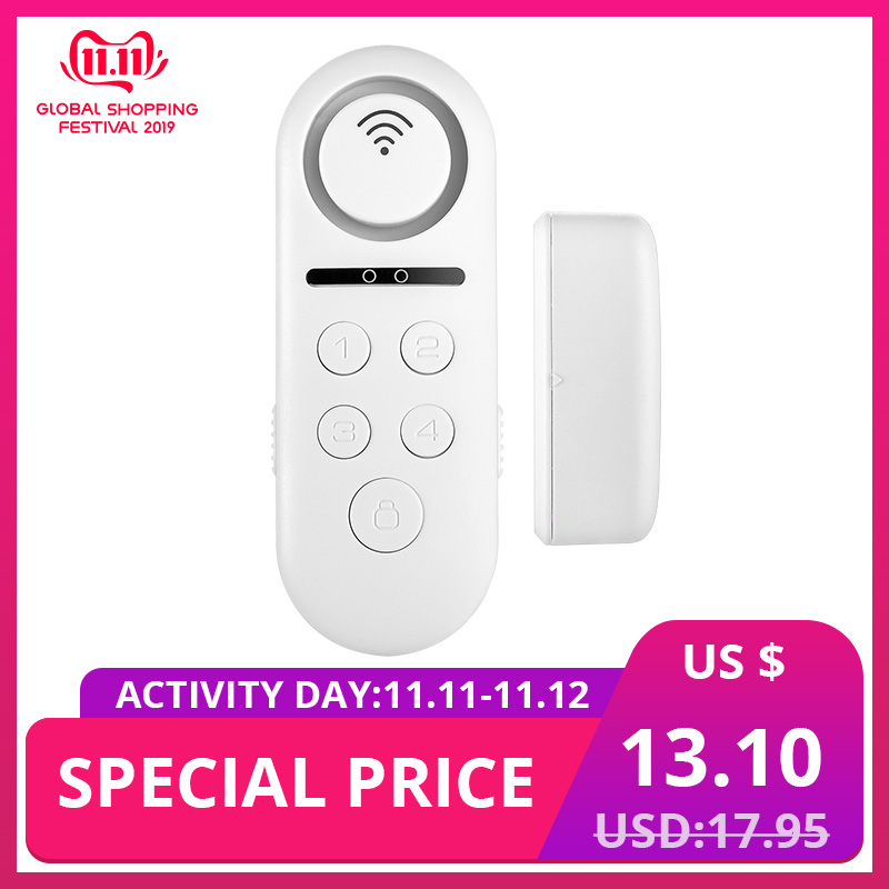 KERUI 1pcs Lot 120dB Wifi Wireless Door Window Sensor Bell Welcome Alarm System APP Remote Control Home Security Detector