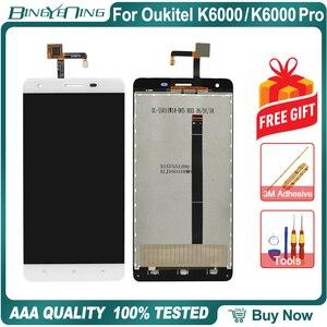 Image 2 - Repuesto de pantalla LCD y digitalizador para Oukitel K6000/K6000 Pro, 100% Original, módulo de pantalla, accesorios