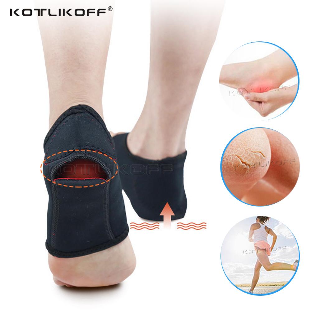 1 Pair Breathable Heel Cushion Socks Heel Protector Ankle Brace Sock Foot Care Anti Cracked Shoe Pad Pain Relief Cushion Inserts