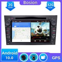 4 core 1024*600 Quad Core Android 10.0 Car tape recorder GPS DVD Player For Opel Astra H Vectra Corsa Zafira B C G Mirror Link