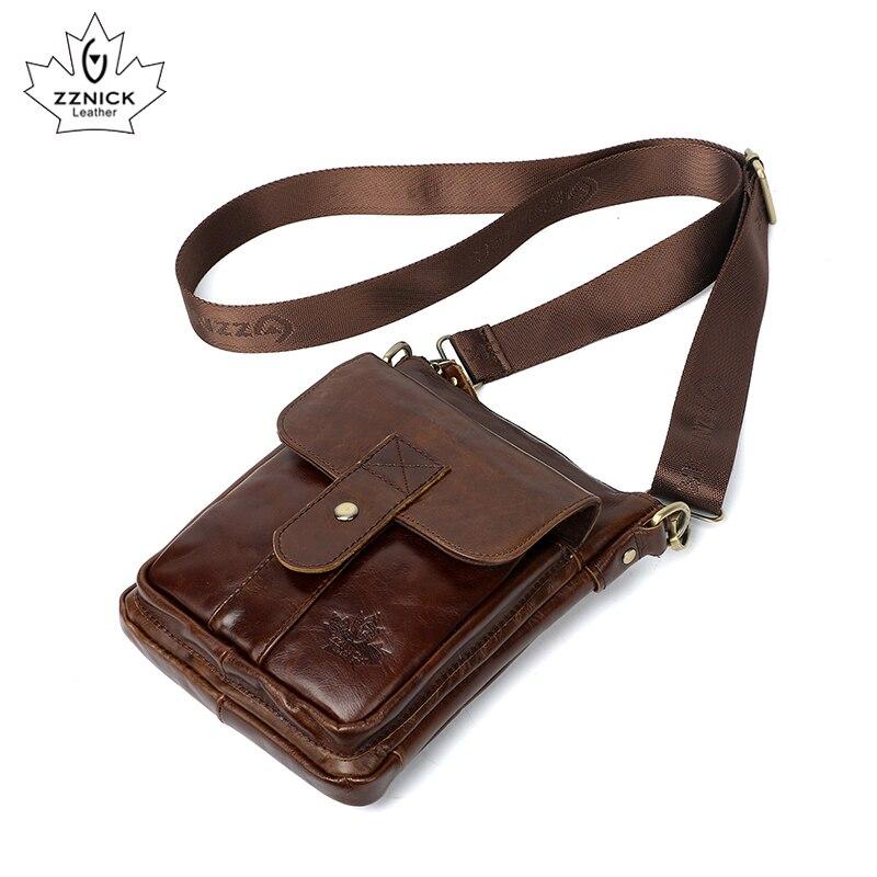 Men's Genuine Leather Bag Shoulder Bag Crossbody Bags For Men Messenger Bags 2019 Fashion Flap Luxury Shoulder Handbag ZZNICK