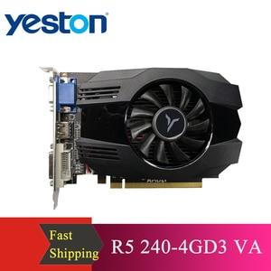 Image 1 - Yeston R5 240 4グラムD3 vaグラフィックカードdirectx 11ビデオカード4ギガバイト/64bit 1333mhz低消費電力gpu 2相