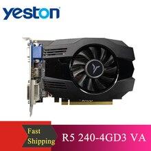 Yeston R5 240   4G D3 VA 그래픽 카드 DirectX 11 비디오 카드 4GB/64bit 1333MHz 저전력 소비 GPU 2 상
