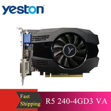 Yeston R5 240   4G D3 VA Graphic Card DirectX 11 Video Card 4GB/64bit 1333MHz Low Power Consumption GPU 2 Phase