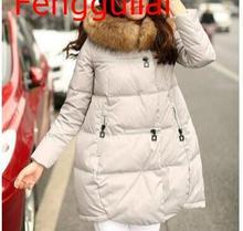 Women Coats Jackets Parka Hooded Winter Jacket Women Artificial Fur Collar Winter Coat Women Zipper Female Jacket S-6XL