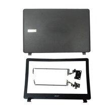Novo portátil lcd capa traseira/lcd moldura dianteira/lcd dobradiças para acer aspire ES1-523 ES1-533 ES1-532 ES1-572 série capa caso superior