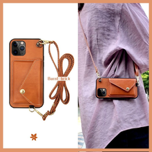 The 2021 new phone case iPhone 12 Zero Wallet is suitable for Apple 11pro net red lanyard max stilettos phone cases