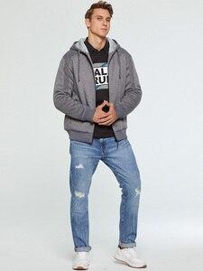 Image 4 - ブランド男性の毛皮ライニングパーカーウール暖かいスウェット秋冬フリースコートスポーツウェア 2019 男性パーカー上着ユーロサイズ