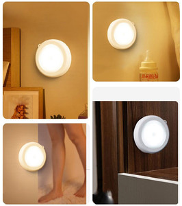Image 5 - Luz noturna com bateria de led pir, sensor de movimento, magnético, sem fio, para armário, escada, para parede, para iluminação do corredor