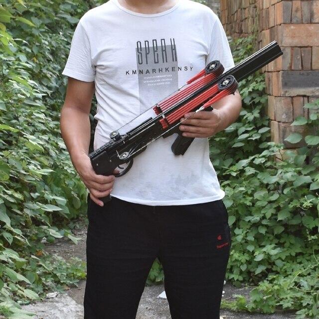 Classic Version Wolf King Powerful Slingshot Rifle Semi-Automatic 40BB Enhanced Edition Slingshot Rifle Sling Bow Traction 3