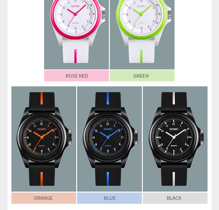 H3ae33174bff34b57a19e44c09c99aa02D SKMEI 1578 Fashion Men Women 3Bar Waterproof Personality Colorful
