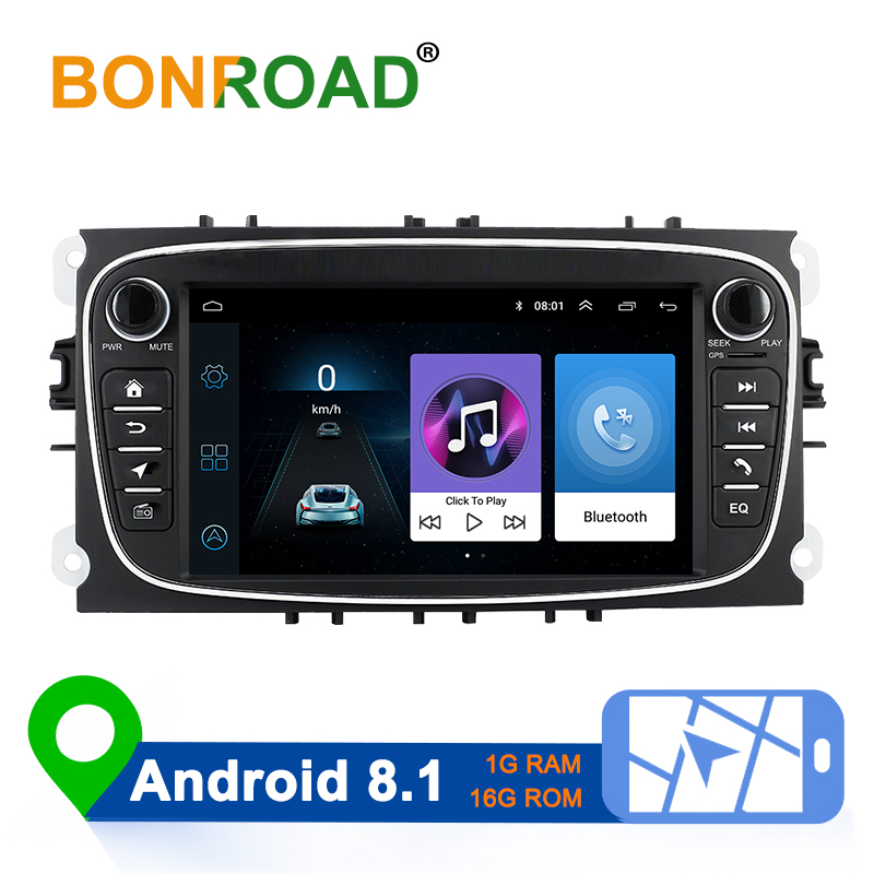 Bonroad 2 Din Android 8.1 Car Multimedia Player For Ford Focus 2 3 2004-2011 Mondeo Galaxy S-max Kuga C-max Car Radio Navigation