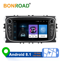 Bonroad 2 Din Android 8.1 Car Multimedia Player for Ford Focus 2 3 2004 2011 Mondeo Galaxy S max Kuga C max Car Radio Navigation