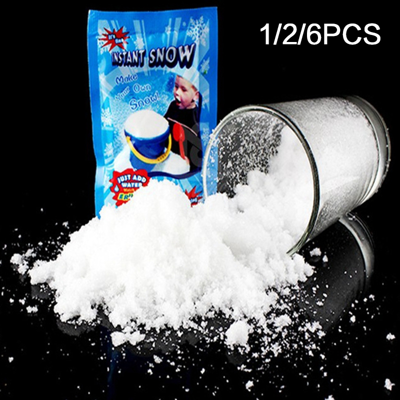 1Pack Frozen Snowflakes Artificial Snow Instant Powder Fluffy Snowflake Christmas Party Decoration 2020 New Year E