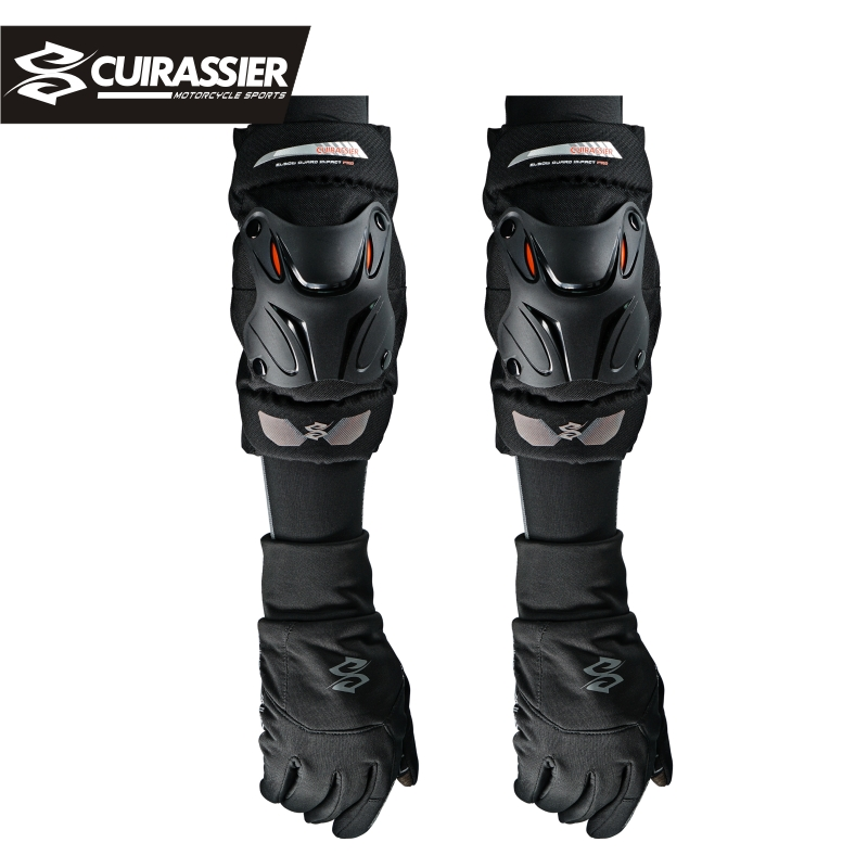 Cuirassier K01-2 Motorcycle Knee Guard Knee Protector Support Knee Pads Safety Protective Gear Motocross Cycling Elbow Protector