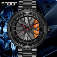 Creative Rim Hub Watch Wrist Watch Men Waterproof Military Army Stainless Steel Male Clock Top Brand Luxury Man Sport Watches