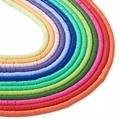 Бусины из полимерной глины ручной работы, около 380 ~ 400 шт./нить, 3 мм, диск/плоские круглые бусины Heishi для изготовления ювелирных изделий, отве...