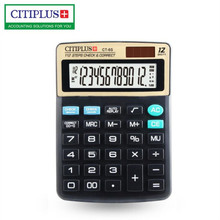 NEW CT-6S Check the number 112 steps to double check the calculator 12 digit display solar desktop calculator for Office finance