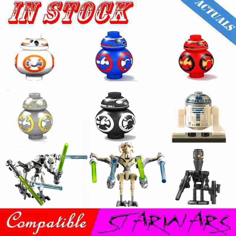 Starwars Figures BB8 R2D2 Robots Sith Troopers Soldier Star Plan Space Wars Darth Vader Models Building Blocks Kids Toys Legoing