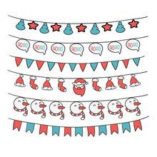 ZhuoAng Christmas bunting Clear Stamps/Card Making Holiday decorations For  scrapbooking Transparent stamps 12*12cm