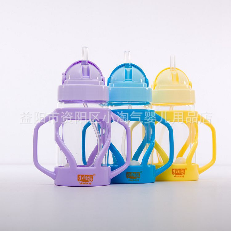 Small Naughty With Handle Strap Straw Glass Cup High-temperature Resistant Cold Glass Heat-Resistant Cup With Straw Aw-70 71