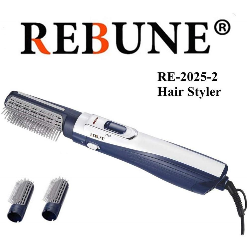 REBUNE 2025-2 Hair Styler Tools 220V HAIR STYLER Fashion Hair Straightener & Hair Curler Comb Brush