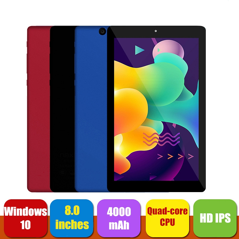 New Tablet PC 8 Inch Windows 10 Intel Atom Z8300 Quad Core CPU 4+64GB ROM 16:9 1280*800 IPS Screen Dual Camera WIFI Tablets