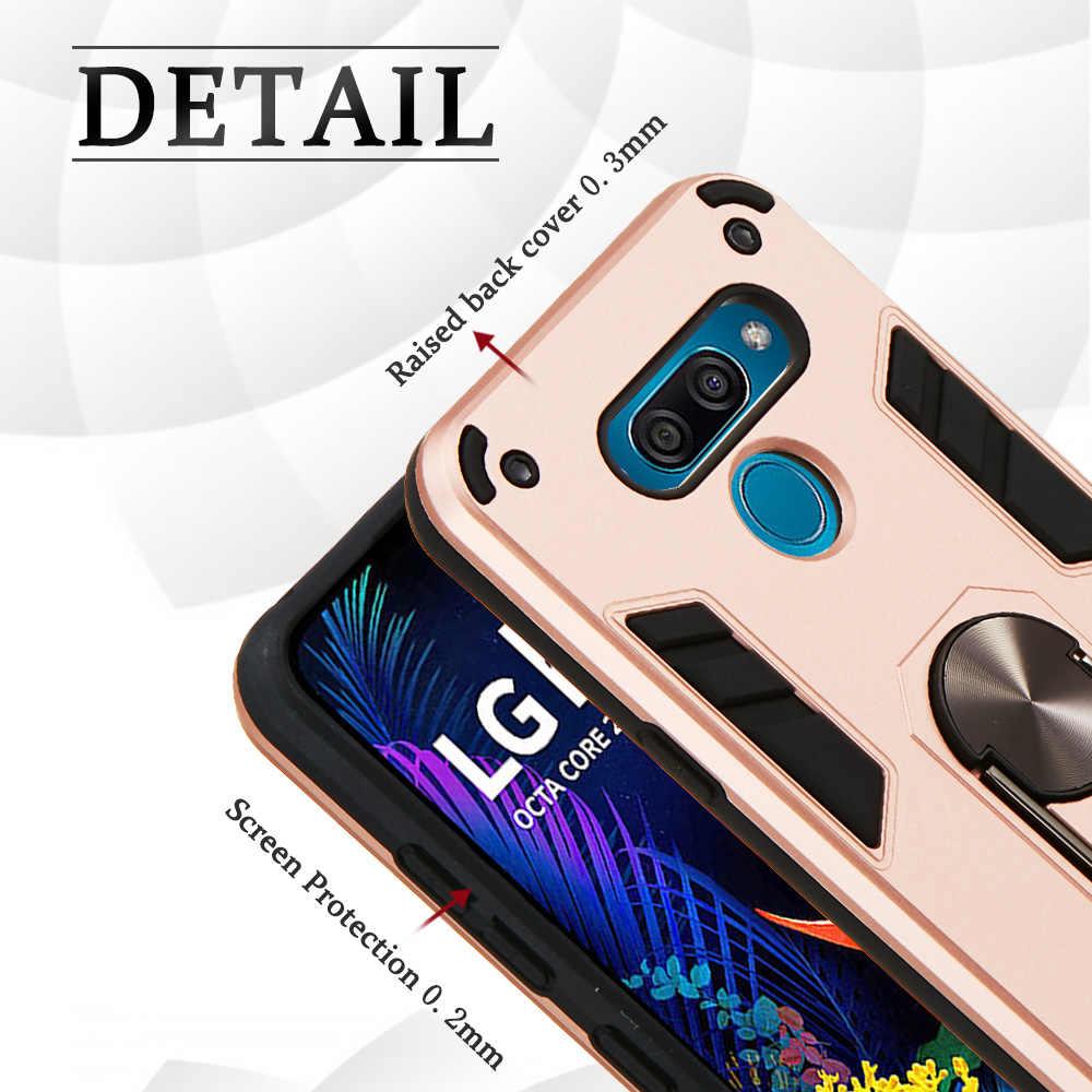 Armure demi-enveloppé étuis pour étui LG K50 Coque Iphone PC + Coque en TPU sFor LG cellulaire Q60 pochette pour téléphone cellulaire Carcasa Telefonas