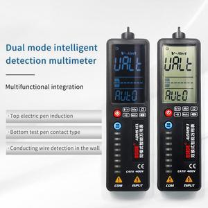 3-em-1 multímetro digital tensão detector tester bside adms1 multimetetro voltímetro dc ac dmm ohm hz continuidade ncv teste