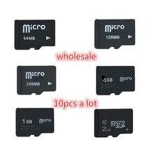 Haute qualité!!! 10 pièces/lot 1GB 2GB 4GB 8GB 64MB 128MB 256MB 512MB Micro carte TF véritable micro carte mémoire