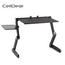 Escritorio plegable para ordenador portátil ajustable, soporte de mesa, bandeja para cama, mesas laterales útiles, muebles, mesa de sala de estar