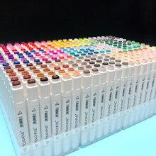 Touchfiveペンマーカー30 40 60 80 168色セットアルコール系インクアートマーカーための最高のセットマンガデュアル頭スケッチマーカーペン