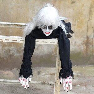 Image 1 - Украшение на Хэллоуин, ползающий призрак, электронная игрушка, реквизит ужаса, женщина, дьявол, домашний клуб, бар, дом с привидениями, вечерние украшения