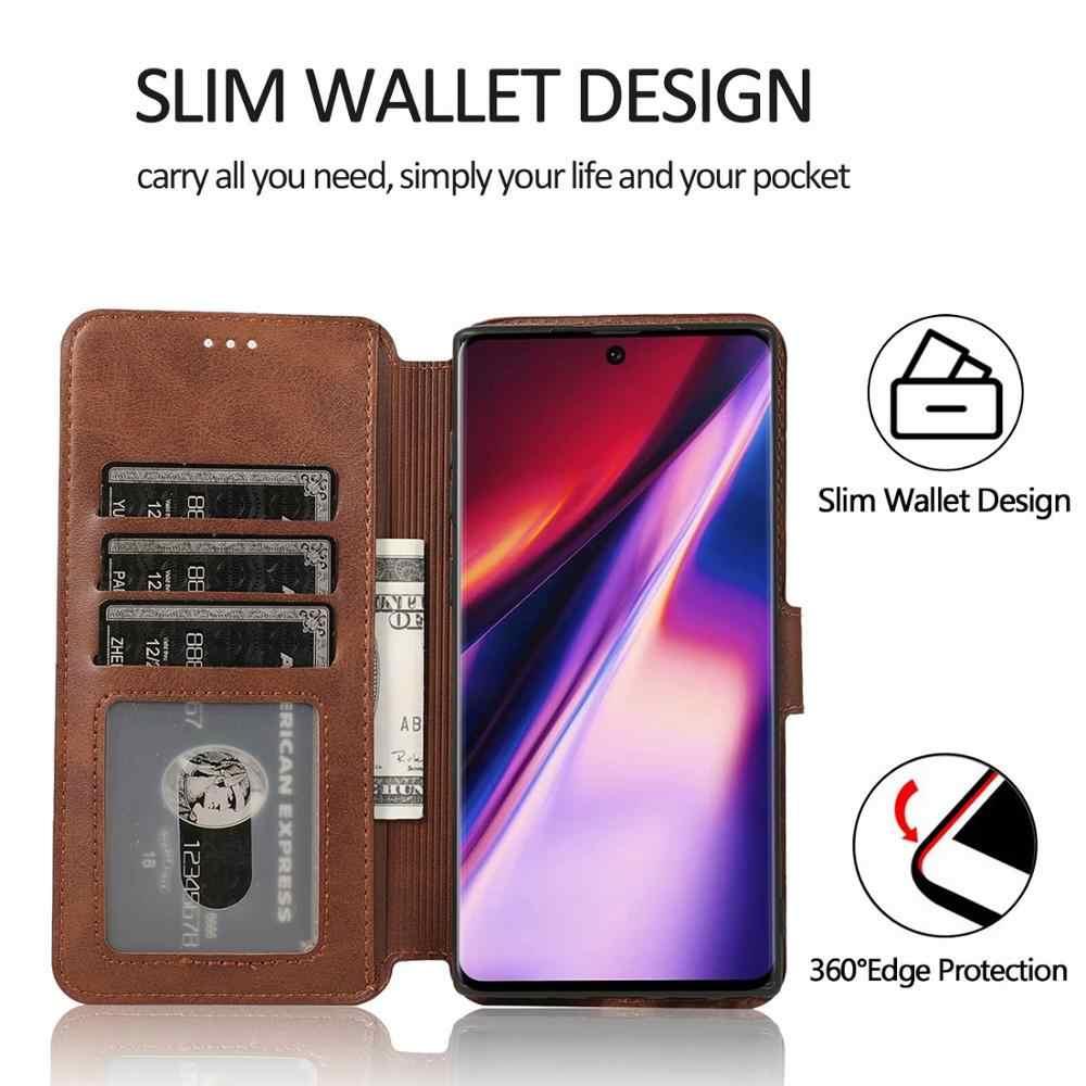Cartera Flip Funda de cuero para Samsung Galaxy S8 S8Plus S9 S9Plus S10 s10plus note8 9 J4 J6 J8 tarjeta 2018 cubierta protectora de soporte de ranura