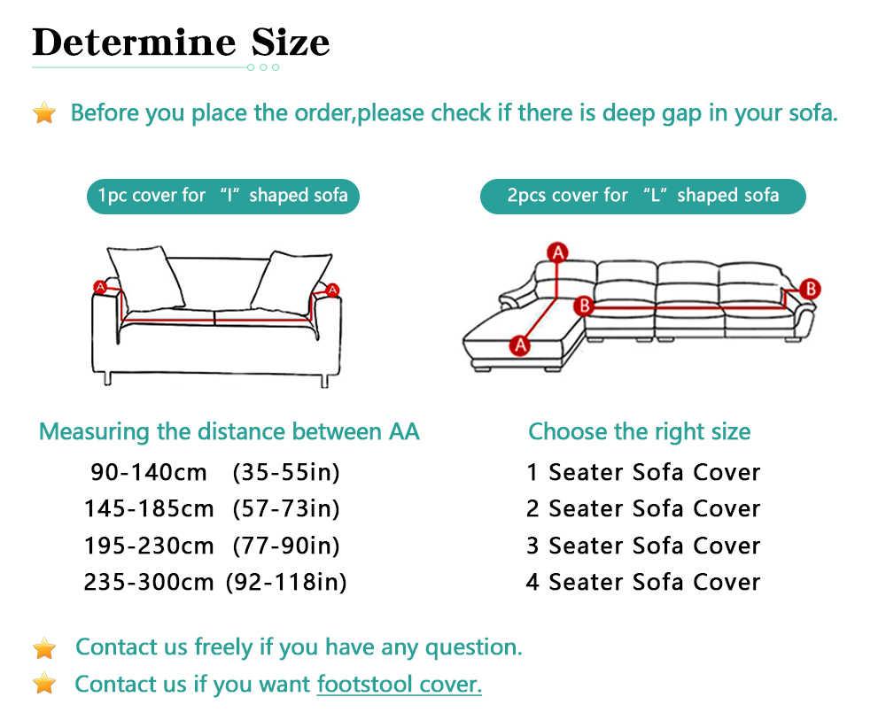 Forcheer L Bentuk Elastis Sofa Cover untuk Ruang Tamu Polyester dan Spandex Penutup Kursi Slip Cover Satu/Dua /Tiga Kursi