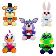 1pc novo estilo cinco noites no freddy 4 fnaf brinquedos de pelúcia 18cm freddys urso foxy chica bonnie pelúcia brinquedos boneca crianças presentes