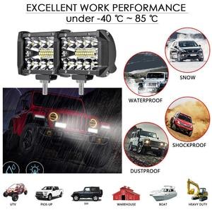 Image 2 - Aeobey ledライトバー4インチ60ワット防水作業ライトバースポット洪水ビーム仕事駆動オフロードボート車トラクタートラックsuv