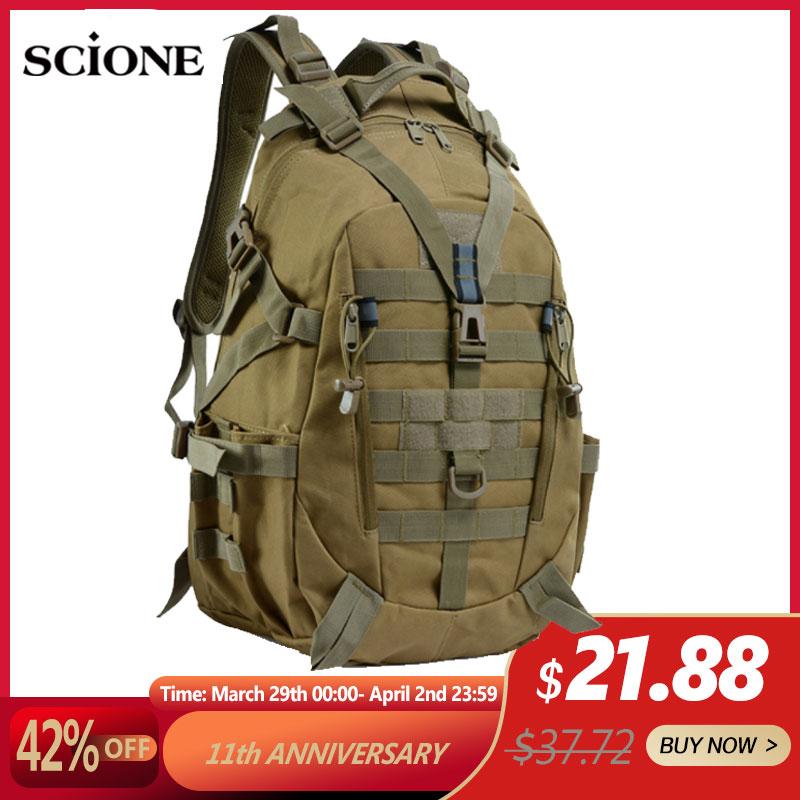 40L Camping Backpack Military Bag Men Travel Bags Tactical Army Molle Climbing Rucksack Hiking Outdoor Sac De Sport Tas XA714WA Climbing Bags  - AliExpress