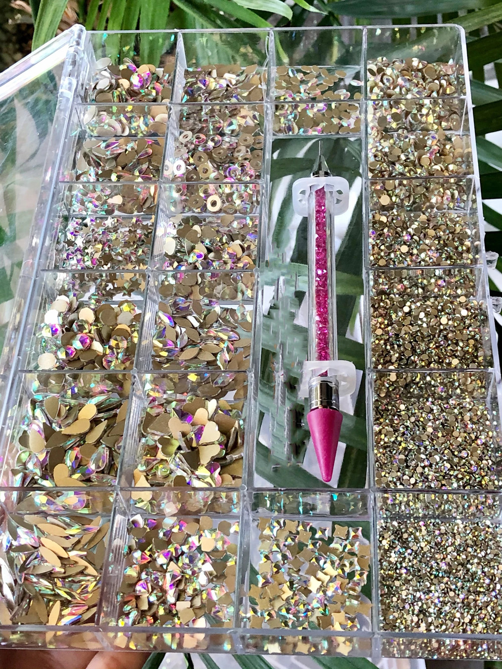 Кристаллы Стразы 21 Сетка плоское стекло для ногтей алмазные ювелирные изделия стеклянные кристаллы для ногтей пошивочная коробка (700 шт кри...