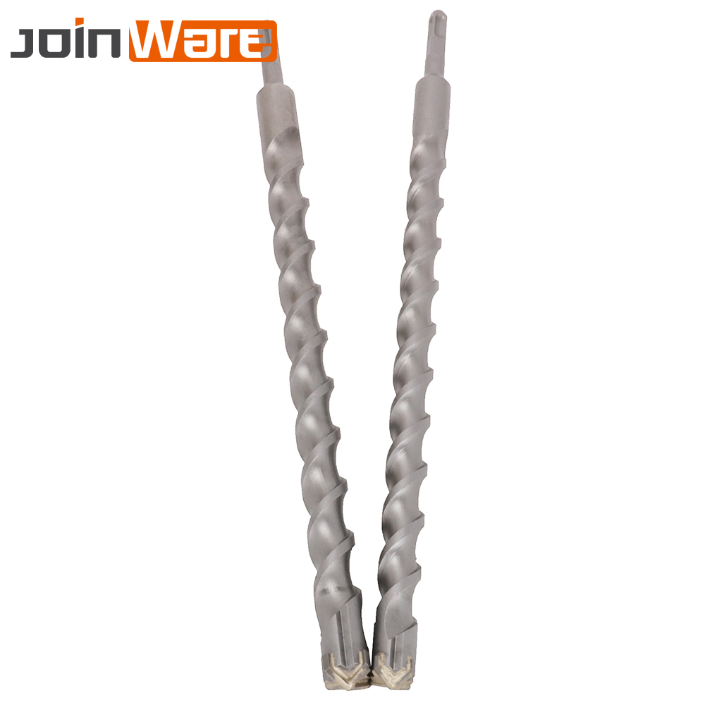 450mm Electric Hammer Drill Bits 25/28mm Cross Type Tungsten Steel Flat Shank For Masonry Concrete Rock Stone 1Pc