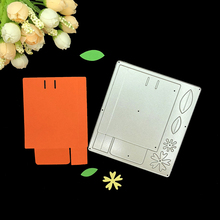 3D Box Leaves Flower Frame Stencil Scrapbooking Metal Cutting Dies Embossing Craft Knife Mould Template Decoratieve Blade Punch