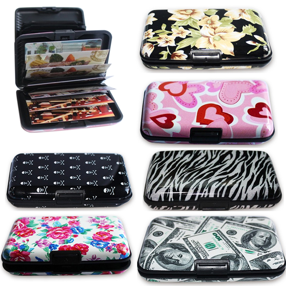 Aluminum Print Card Case Pocket Business ID Credit Card Wallet Holder Waterproof Case Box #734