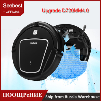 Smart Robot Vacuum Cleaner Dry Mopping With Big Suction Power 2 Side BrushTime Schedule Clean Seebest D720 M4.0.Russia Waraheuse clean robot aspirator with wet dry mopping water tank time schedule auto recharge smart cleaner seebest d730 momo 2 0
