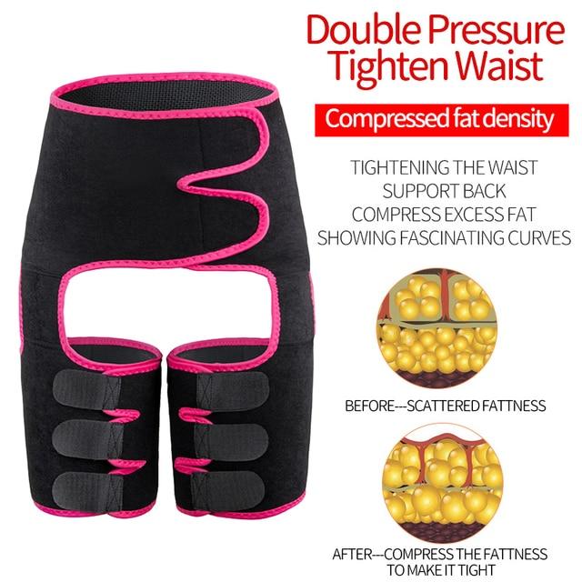 Faja Reductoras Sauna Corset Thigh shaper Waist Trainer Belt Slimming Sweat Pants Women Thigh Trimmers Leg Shaper Fat Burning US 2