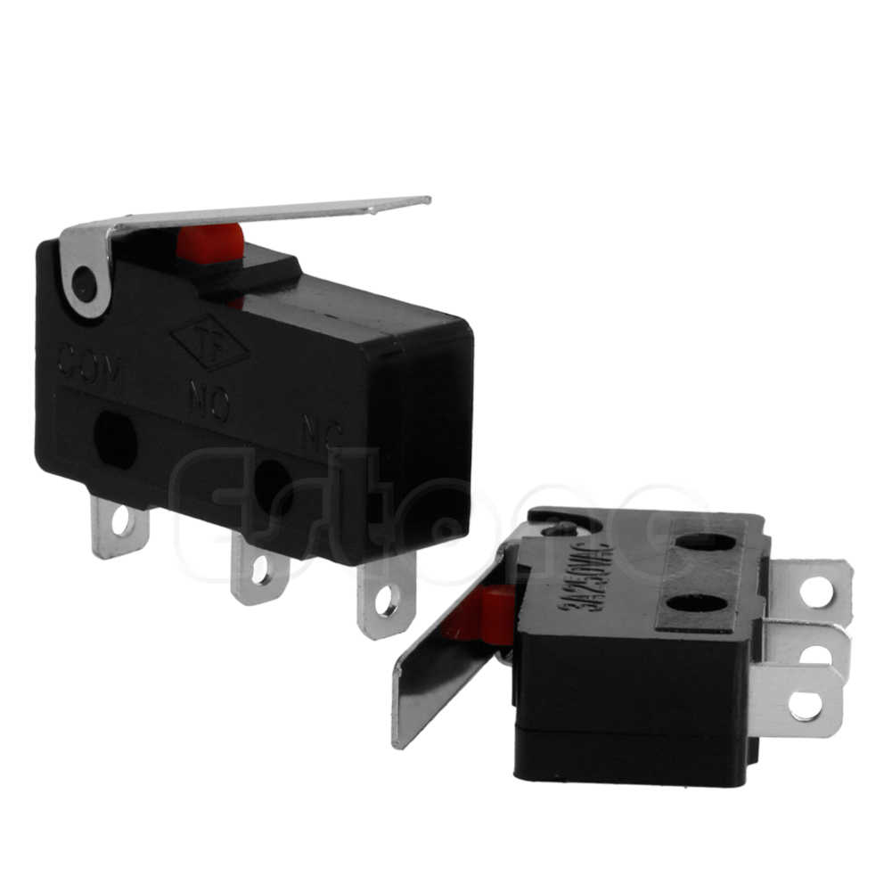 Drop Ship 2 uds 3A AC C + NO + NC Micro Sensor límite interruptor rodillo brazo palanca subminiatura