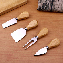 Knife-Slicer-Kit Cheese-Cutter Wood-Handle-Sets Cooking-Tools Bamboo Kitchen Oak Useful