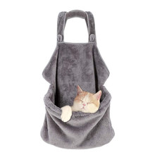 Puppy Cats And Dogs Carry Backpacks Coral Velvet Rabbit Cat Hair Apron Anti-sticky Hair Hug Dog Clothes Rack Cat Pocket Bag Beds(China)
