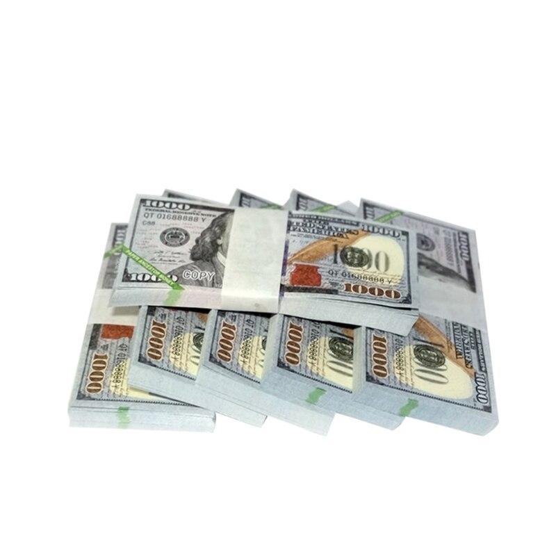 Papel céu inferno notas bancárias moeda prop ancestral dinheiro dólar (us.1000) feng shui aniversários lembrança boa sorte|Notas de ouro|   -